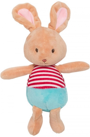 Doudou lapin rouge et bleu Sergent Major