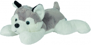 Peluche chien husky gris blanc noir couché Nicotoy, Simba Toys (Dickie)