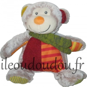 Peluche singe marron clair et rouge Nicotoy, Simba Toys (Dickie)