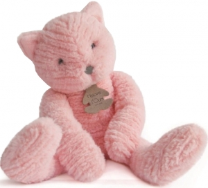 Peluche chat Sweety Couture rose petit modèle HO2646 Histoire d'ours, Oh Studio!