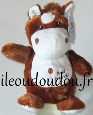 Marionnette cheval marron et blanc Best friends Nicotoy, Simba Toys (Dickie)