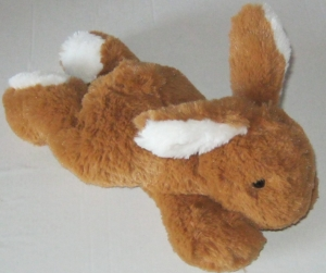 Peluche lapin couché marron et blanc 26 cm Nicotoy, Simba Toys (Dickie)