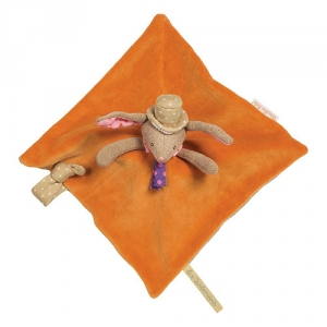 Doudou lapin orange Les tartempois Moulin Roty