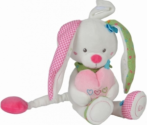 Peluche lapin musical rose et blanc Lief! Lief Lifestyle, Simba Toys (Dickie), Nicotoy