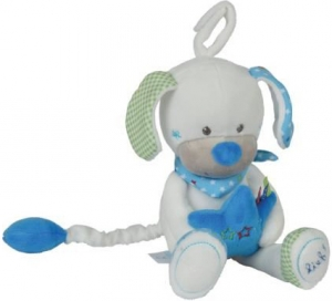 Chien blanc et bleu peluche musicale Lief! Lief Lifestyle, Simba Toys (Dickie), Nicotoy