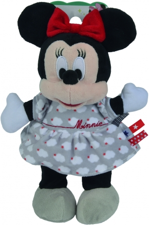 Peluche Minnie robe grise Nuages Disney Baby, Nicotoy, Simba Toys (Dickie)