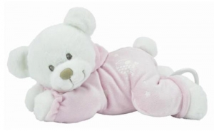 Peluche ours musical rose phosporescent *Boone Glowit* Nicotoy
