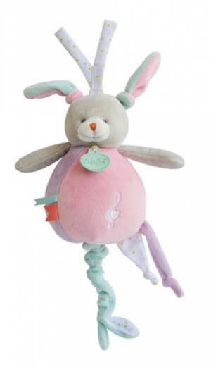 Peluche musicale lapin rose Les Touptis - BN0205 Baby Nat