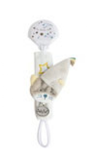 Doudou attache-tétine luminescent chat gris Les Comètes - BN0310 Baby Nat