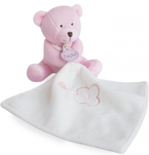 Ours rose clair avec doudou BN0388 Baby Nat