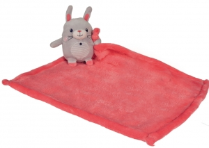 Peluche lapin gris avec couverture rose Nicotoy, Simba Toys (Dickie)