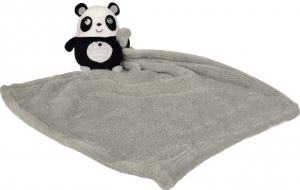Peluche panda avec couverture grise Nicotoy, Simba Toys (Dickie)