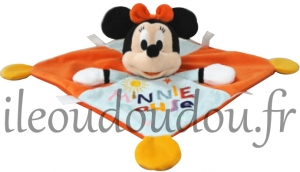 Doudou Minnie mouse orange et bleu Disney Baby, Nicotoy, Simba Toys (Dickie)