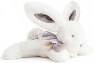 Lapin blanc et gris taupe Bamboo Tutti Frutti DC3294 Doudou et compagnie