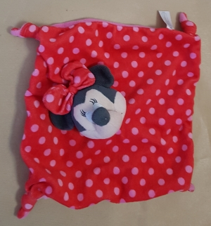 Doudou Minnie rouge à pois roses Orchestra, Disney Baby, Nicotoy