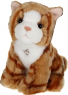 Peluche sonore chat tigré marron Gipsy