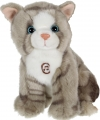 Peluche sonore chat tigré gris Gipsy