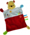 Doudou plat rectangle Winnie jaune, orange, et rouge Disney Baby - Nicotoy - Simba Toys (Dickie)