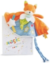 Doudou plat renard orange, bleu, vert et blanc luminescent *Magic* - DC3029 Doudou et compagnie