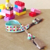 Attache-doudou mosaïque multicolore Polkadot