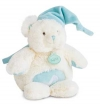 Peluche musicale ours turquoise et blanc *Câlins* - BN072 Baby Nat