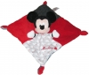 Doudou Mickey rouge et noir carré *Nuages* Disney Baby - Nicotoy - Simba Toys (Dickie)