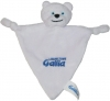 Doudou ours blanc Gallia triangle Marques pharmacie
