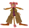 Peluche souris marron, orange et rose - Minus *Les Tartempois* Moulin Roty