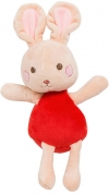 Doudou lapin rouge et rose Sergent Major