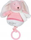 Lapin musical rose Layette BN033 Baby Nat
