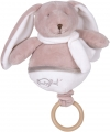 Lapin musical marron taupe Layette BN033 Baby Nat