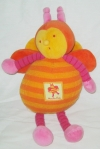 Abeille Louna orange peluche Moulin Roty