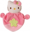 Doudou Hello Kitty rose fleur verte Jemini - Hello Kitty - Sanrio