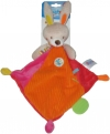 Doudou lapin orange rouge rose Ouatoo Baby - Maxitoys