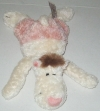 Peluche ours blanc et rose Nici