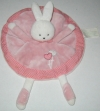 Doudou lapin rose rond coeurs Kimbaloo - La Halle
