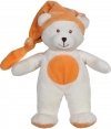 Peluche ours blanc et orange Gipsy