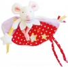 Doudou souris rose luminescent Magic DC3028 Doudou et compagnie
