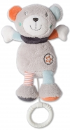 Peluche ours gris musicale Baby Club