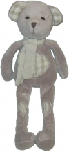 Peluche ours gris taupe vichy I2C Marques diverses