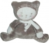 Chat peluche marron et blanc Tex Baby