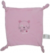 Doudou mouchoir carré rose chat Absorba