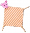 Doudou cochon rose blanc orange Fürnis