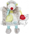 Doudou hérisson marionnette Gaston escargot BN0282 Baby Nat