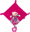 Doudou ours rose carré Tuc Tuc
