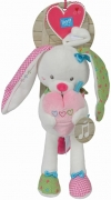 Peluche lapin musical rose et blanc Lief! Lief Lifestyle - Simba Toys (Dickie) - Nicotoy