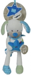 Chien blanc et bleu peluche musicale Lief! Lief Lifestyle - Simba Toys (Dickie) - Nicotoy