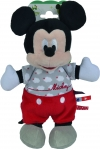 Peluche Mickey gris et rouge Nuages Disney Baby - Nicotoy - Simba Toys (Dickie)