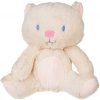 Peluche chat jaune et rose Sergent Major