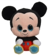 Peluche Mickey noir et rouge à grands yeux Disney Baby - Nicotoy - Simba Toys (Dickie)